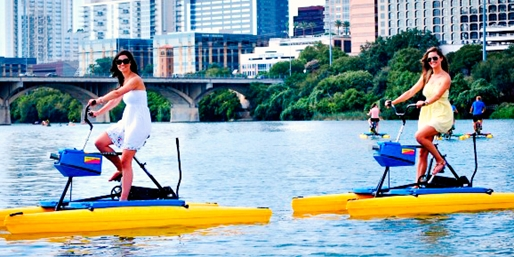 $12 -- Lady Bird Lake: 1-Hour Water Bike Rental, 45% Off
