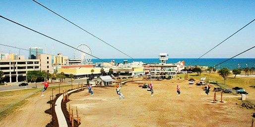 $29 -- Myrtle Beach: Oceanfront Zip Line for 2, Reg. $58