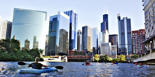 $65 -- Chicago River Guided Kayak Tour for 2, Reg. $130