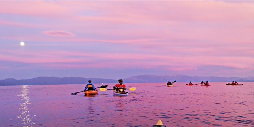 $35 -- Lake Tahoe Sunset Kayak Tour through Summer, Reg. $65
