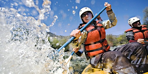 $76 -- Guided White-Water Rafting Trip for 4, 50% Off