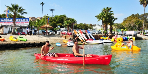 $27 -- Carlsbad Lagoon: 2-Hour Paddleboard or Kayak Rental
