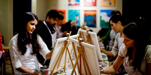 $25 & up -- Half Off 'Best of D.C.' Paint Night w/Wine