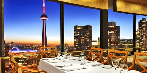 38th-Floor Skyline Dinner for 2-8 at Toula, Save up to 60%