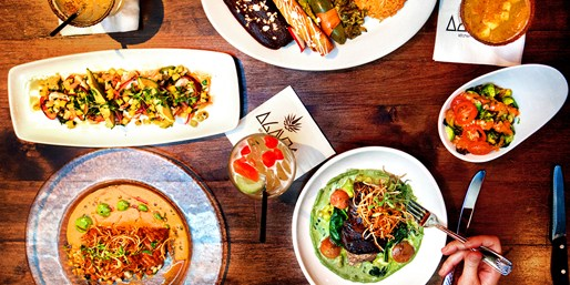 $25 -- Agaves Kitchen: Dinner & Drinks for 2, Half Off
