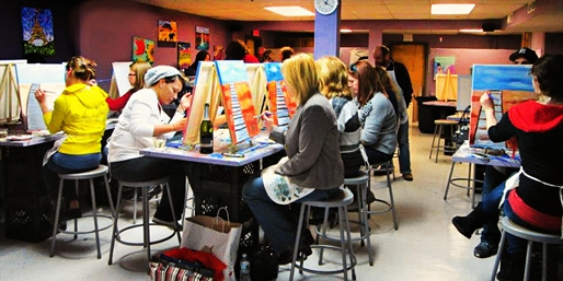 $22 -- Painting Class w/Wine at Urban Art Bar, Reg. $52