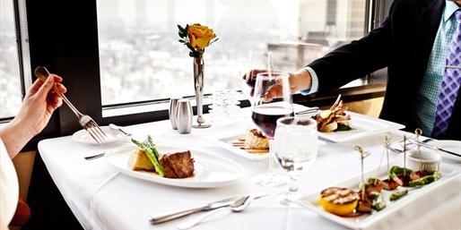$69 -- Member-Fave Skyline Club: 28th-Floor Dinner for 2