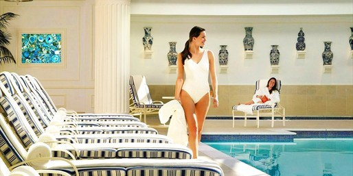 $129 -- Luxe Four Seasons Spa Day w/Massage, Pool & Bubbly