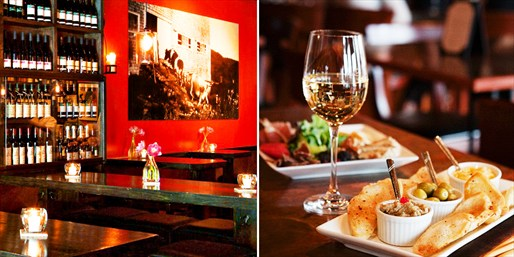 $25 -- Village 'Best Wine Bar': Bottle & Appetizers, 50% Off