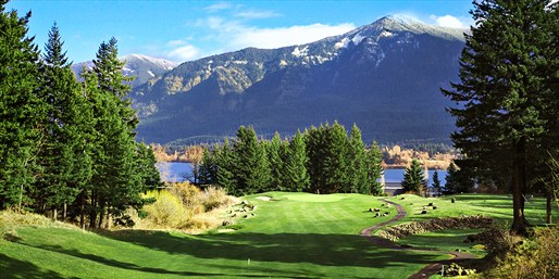 18 Holes w/Cart at Scenic Skamania Golf Course, Half Off