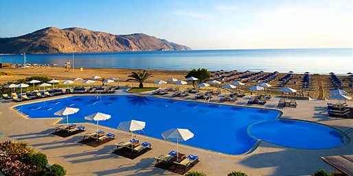 £389 -- 5-Star Beachfront Crete Holiday with Meals, Save 40%