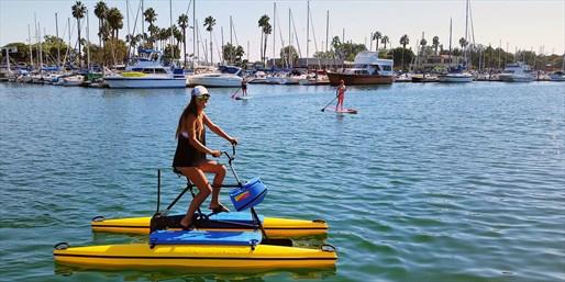 Water Bike or Kayak Rentals in Marina del Rey, Half Off