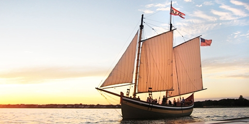 $19 -- Sunset Tall Ship Cruise in New Haven Harbor, 55% Off