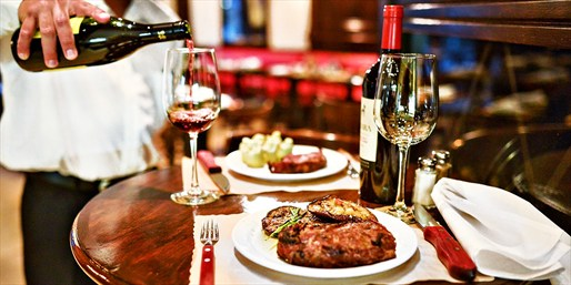 $45 -- Unlimited Argentinian Steakhouse Dinner for 2 w/Wine