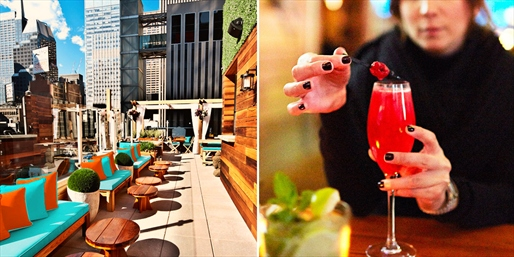 $45 -- Sanctuary Hotel: Rooftop Drinks & Apps for 2, 50% Off