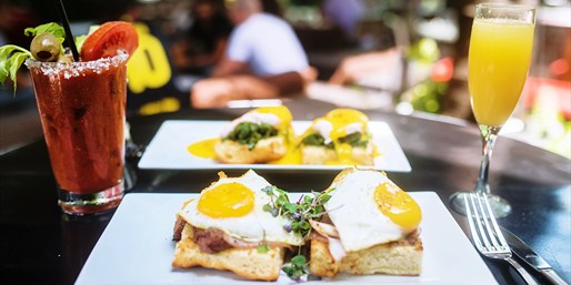 $20 -- News Lounge: Mimosa Brunch for 2 w/Music, Reg. $40