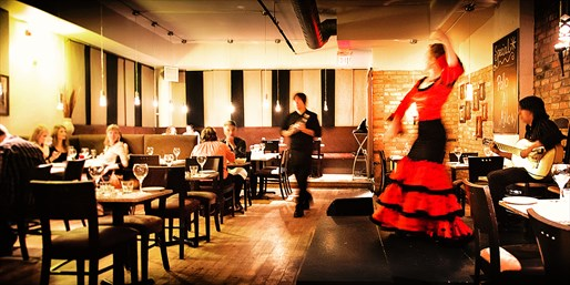 $59-$69 -- 3-Course Paella Dinner for 2 w/Flamenco Show