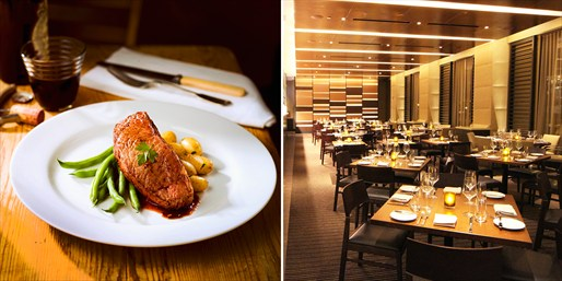 $75 -- Luxe Mag Mile Steakhouse Dinner & Wine for 2, $75 Off