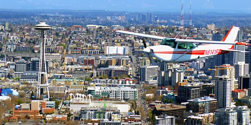$159 -- Hands-On Flying Lesson above Seattle, Reg. $319