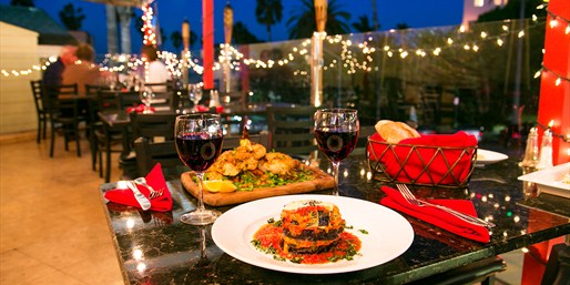 $49 -- La Jolla: Al Fresco Italian for 2 w/Wine, 50% Off