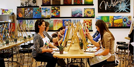 $22 -- Create Your Own Painting at Social Art Class, 50% Off