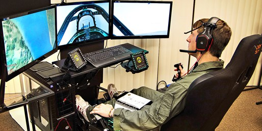 $75 -- F-15 Fighter Pilot Simulator for 2, Reg. $150