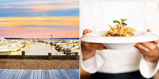 $55 -- 'Destination' Dinner for 2 w/Bay Views, Save $45