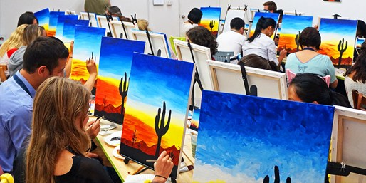 $25 -- Paint Your Own Art at Top-Rated Studio, Save 50%