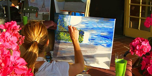$17 -- Painting Classes at San Diego Bars, 50% Off
