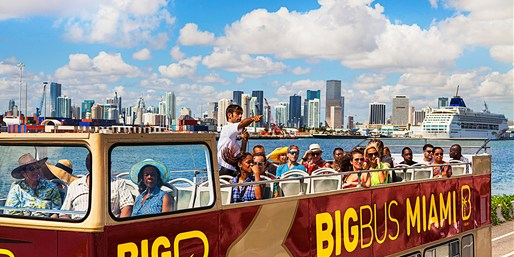 $25 -- Hop-On, Hop-Off Bus Tour of Miami, Reg. $39