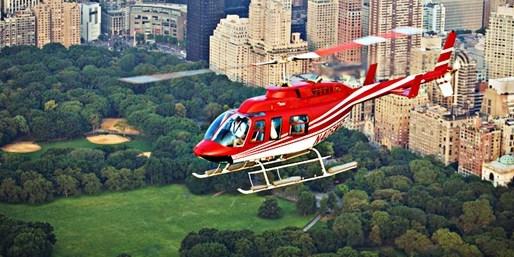 ¥735 -- 6.8折 直升机高空游览纽约 俯瞰自由女神像+帝国大厦等 15/19/25分钟