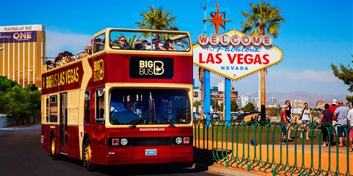 $45 -- Night Plus 2-Day Hop-On Hop-Off Bus Tour of Vegas