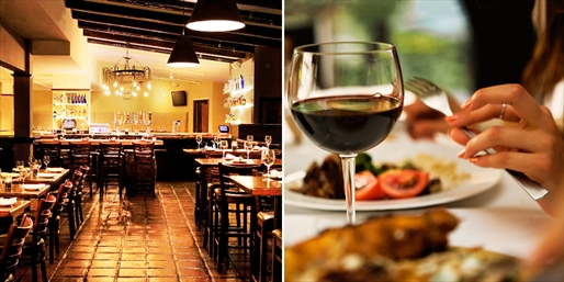 $49 -- Marina: Dinner for 2 w/Bottle of Wine, Reg. $91