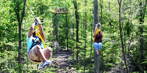 $49 -- Ride on One of Midwest's Largest Zip Courses, 55% Off