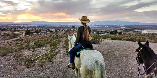 $69 --  Desert Horseback Trail Riding for 2, Reg. $258