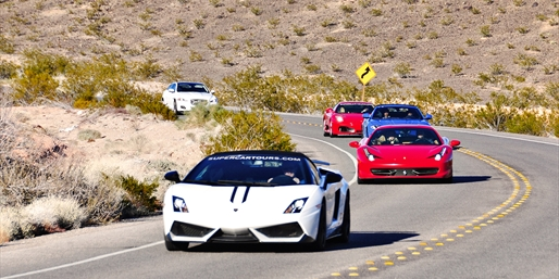 Drive a Ferrari or Lamborghini through the Desert