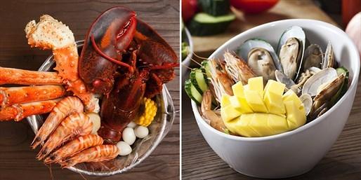 ¥278 -- 纯正美式风味!螃门虾道双人超值海鲜宴 含波士顿龙虾 另有四人餐可选