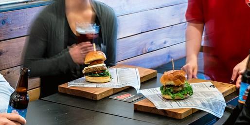 $25 -- Zagat-Praised Burgers for 2 w/Drinks, Reg. $40