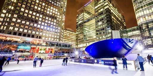 £8.70 -- Outdoor Ice Skating at Canary Wharf, inc Half Term