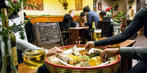 $15 & up -- Zagat-Praised Ethiopian Dinner, 50% Off