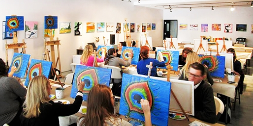 $25 -- Art of Merlot: Top Rated BYOB Painting Classes