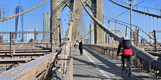 $9 -- Bike Rental near Brooklyn Bridge w/Snack, 50% Off