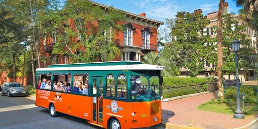 Savannah: Trolley Tours across the City through 2015