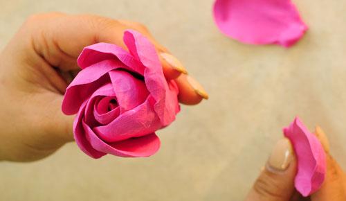 捏粘土教程图片大全玫瑰花步骤