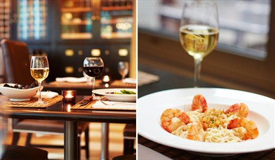 $55 -- Award-Winning Lounge: Dinner & Wine for 2, Reg. $105