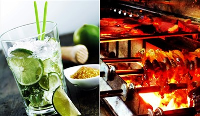 $24 -- Brazilian Tapas BBQ for 2 w/Caipirinha, Save 50%