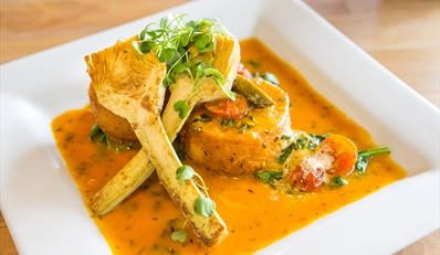 $29 -- 'Best Vegetarian': Hip Uptown Dinner for 2, 50% Off