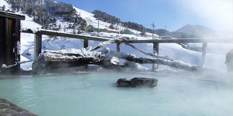 ¥7,700 -- 万座温泉リゾート1泊2食×乳白色の雪見露天