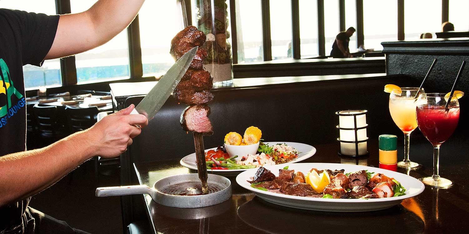 $55 -- Unlimited Brazilian Steak Dinner for 2 w/Ocean Views