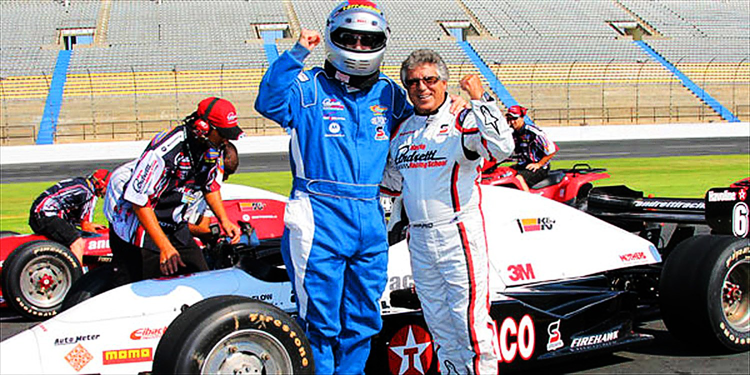 $64 -- Race Car Thrill Ride at Chicago Speedway, Reg. $130